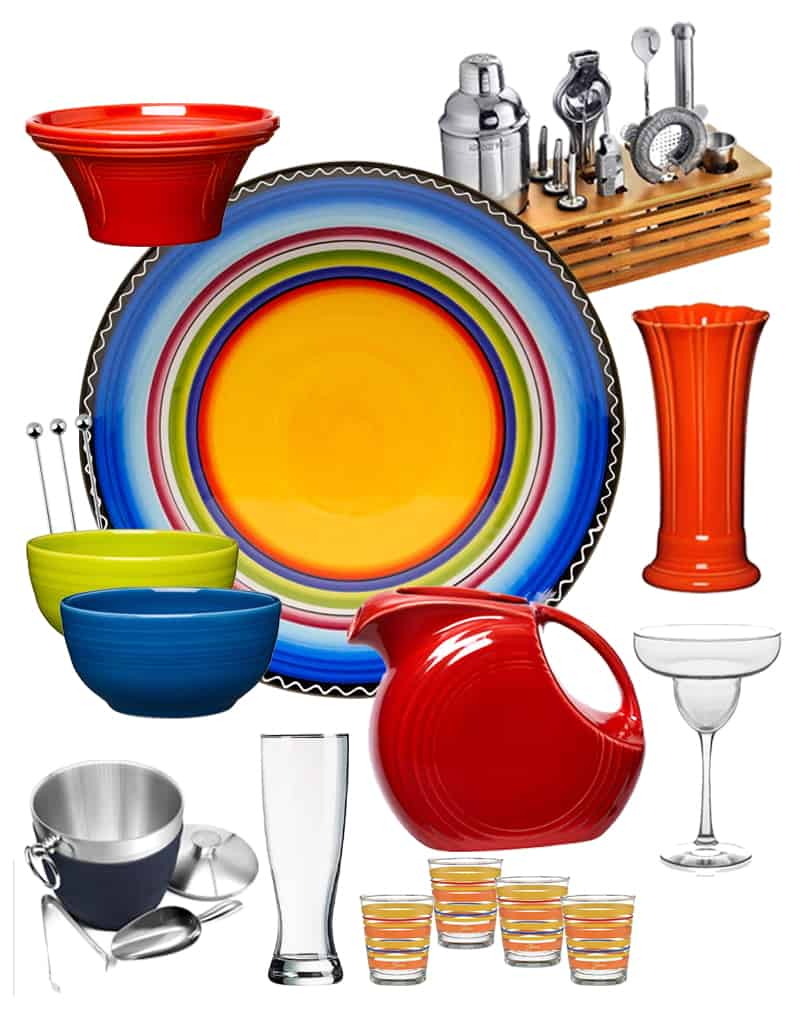 Banish the boring, and get your party started with a bright and colorful Fiestaware inspired bar. These essentials will set the stage for an unforgettable time.