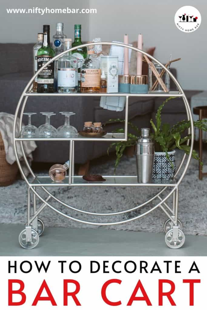 Ready to move into the adult world with a bar cart, but not sure where to start? Learn how to decorate a bar cart with this quick and easy guide.