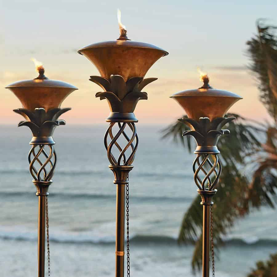 Enjoy your summer by keeping the mosquitos at bay and adding a whole lot of flair to your backyard bar with these must-have tiki torches.